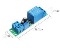 DC 12V Switch Delay-Relay Module with Adjustable Delay Time 0~25 Second Signal Triggering Switch Module