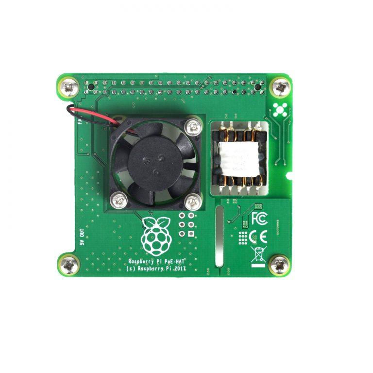 Power Over Ethernet (PoE) HAT for Raspberry Pi 3 B+ Model