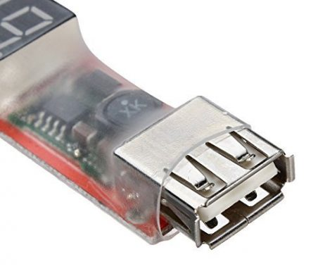 2S-6S Lipo Battery with XT60 Plug to USB Cellphone Charger