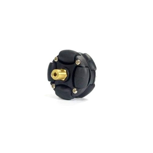 3mm Brass Hex Coupling For 38mm Plastic Omni Wheel