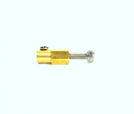 3mm Brass Hex Coupling For 38mm Plastic Omni Wheel