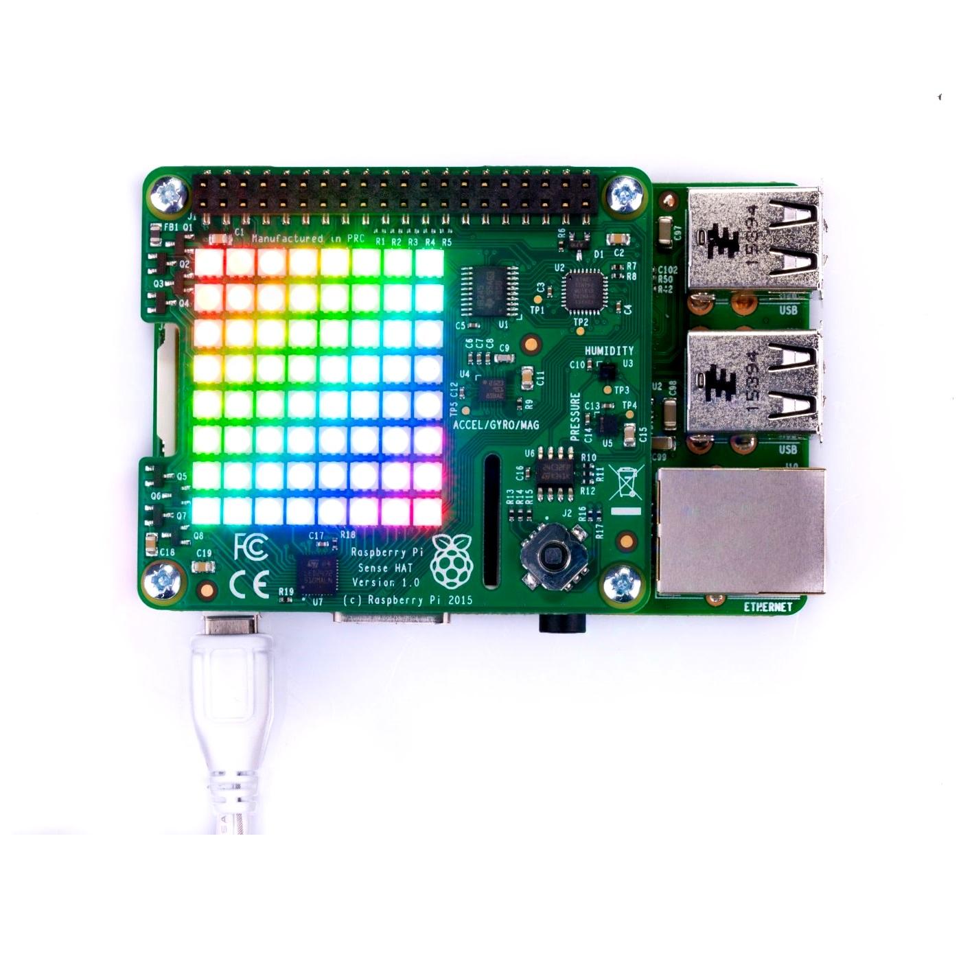 Raspberry Pi Sense HAT for the Pi 3/2/B+/A+ Model