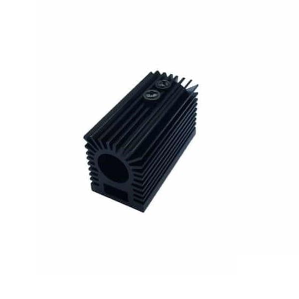 Black Aluminum Heat Sink Holder for 12mm Laser Module