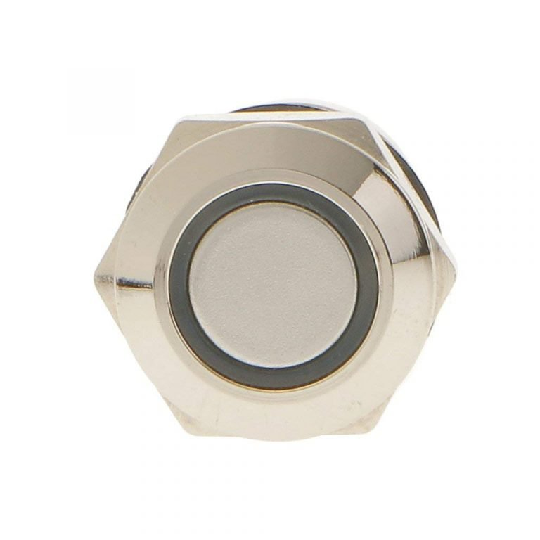 12mm 12V Ring Light Self-Lock Non-Momentary Metal Push-button