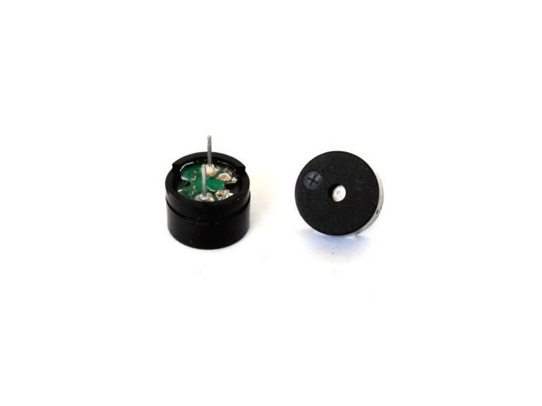 Input Voltage(Max.) : 5V Resistance: 42Ohm; Resonance Frequency: 2048HZ Body Size : 12 x 8mm Pin Pitch: 6mm External Material: Plastic; Color: Black