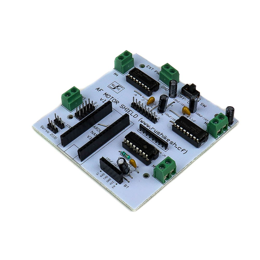 HACK AF L293D Motor Driver/Servo Shield for Arduino Nano