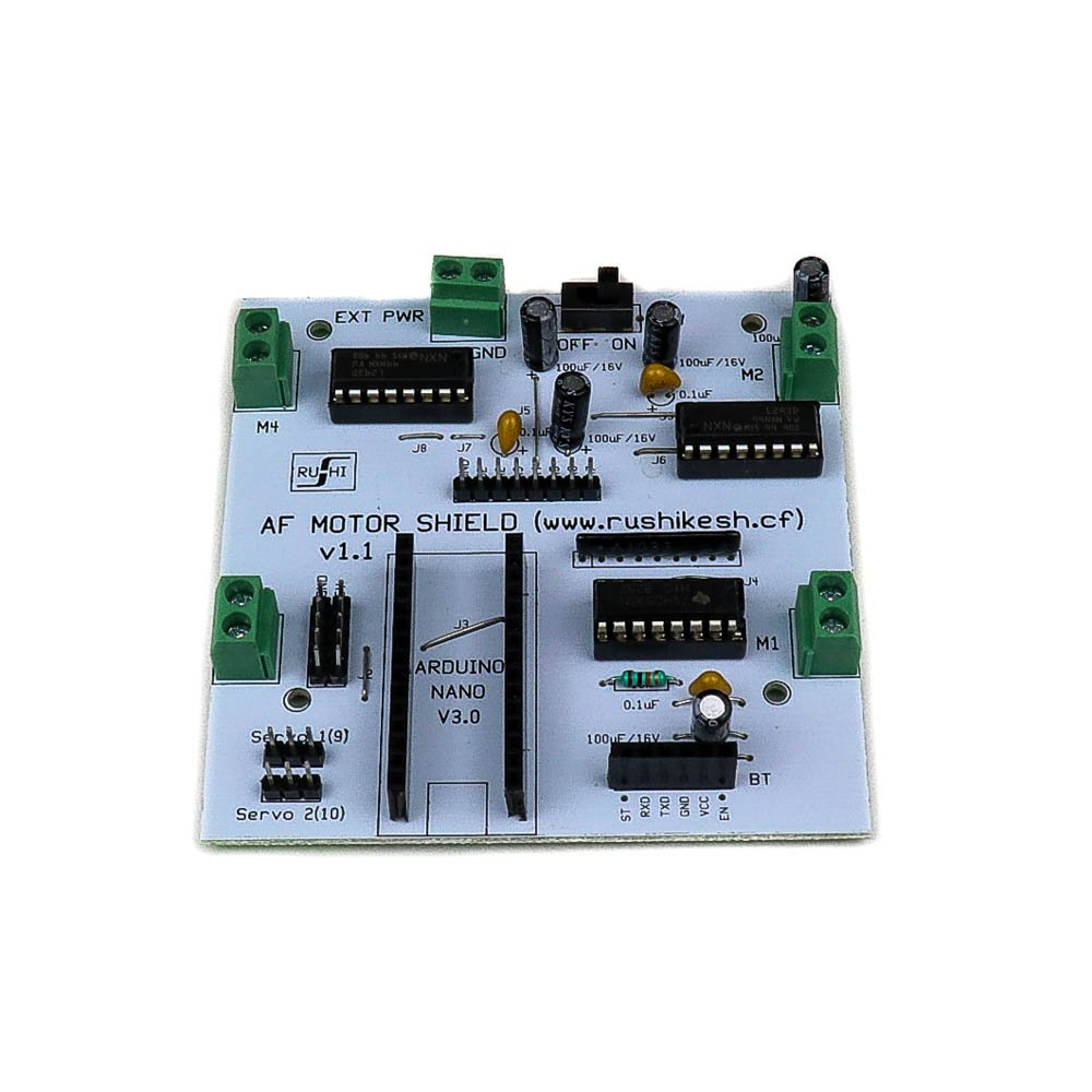 HACK AF L293D Motor Driver/Servo Shield for Arduino Nano - Robu in | Indian  Online Store | RC Hobby | Robotics