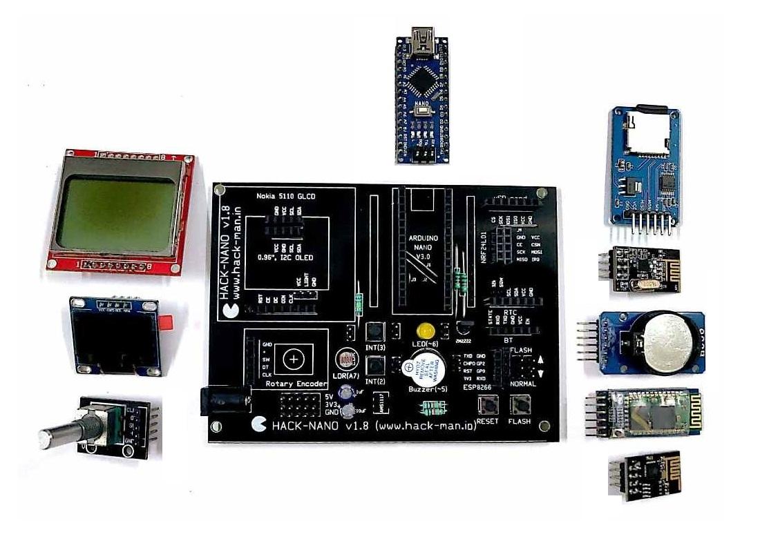 HACK-NANO Development PCB Board for Arduino Nano - Robu in | Indian Online  Store | RC Hobby | Robotics