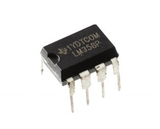 LM358P PDIP-8 High Gain Operational Amplifier (Pack of 5 ICs)