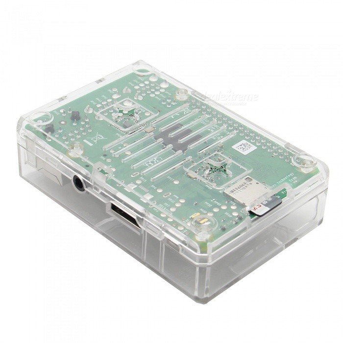 New High Quality Transparent ABS Case for Raspberry Pi 33+ with Cooling FAN Slot