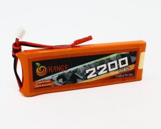 Orange 2200 mAh 1S 25C50C Lithium polymer battery Pack (LiPo)