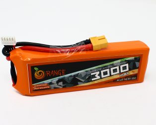 Orange 3000mAh 4S 25C50C Lithium polymer battery Pack (LiPo) (7)