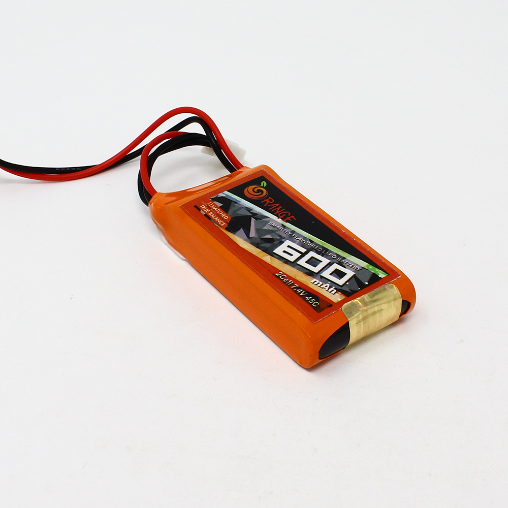 Orange 600mAh 2s 45c90c Lithium Polymer Battery Pack (Lipo)