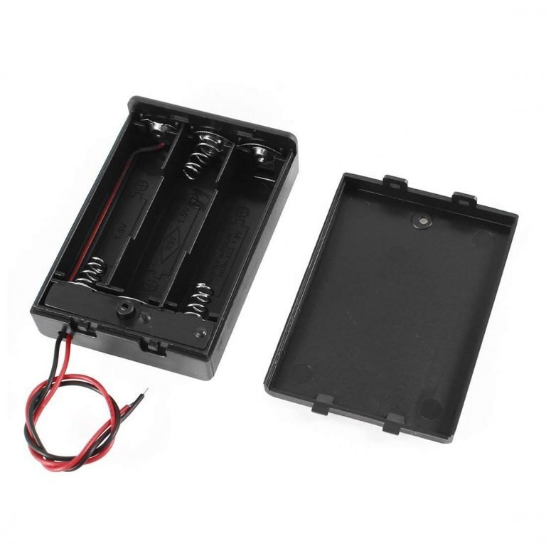 Plastic Covered Battery Cell Holder For 3 X AA Battery with OnOff Switch