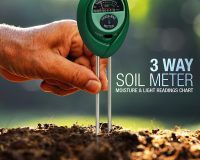 Three-Way Soil Meter For Moisture, Light Intensity and pH Testing Meter (1)