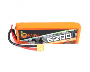 Orange 6200 mAh 4 Cell 35C/70C (14.8V) Lithium Polymer Battery Pack (Lipo)