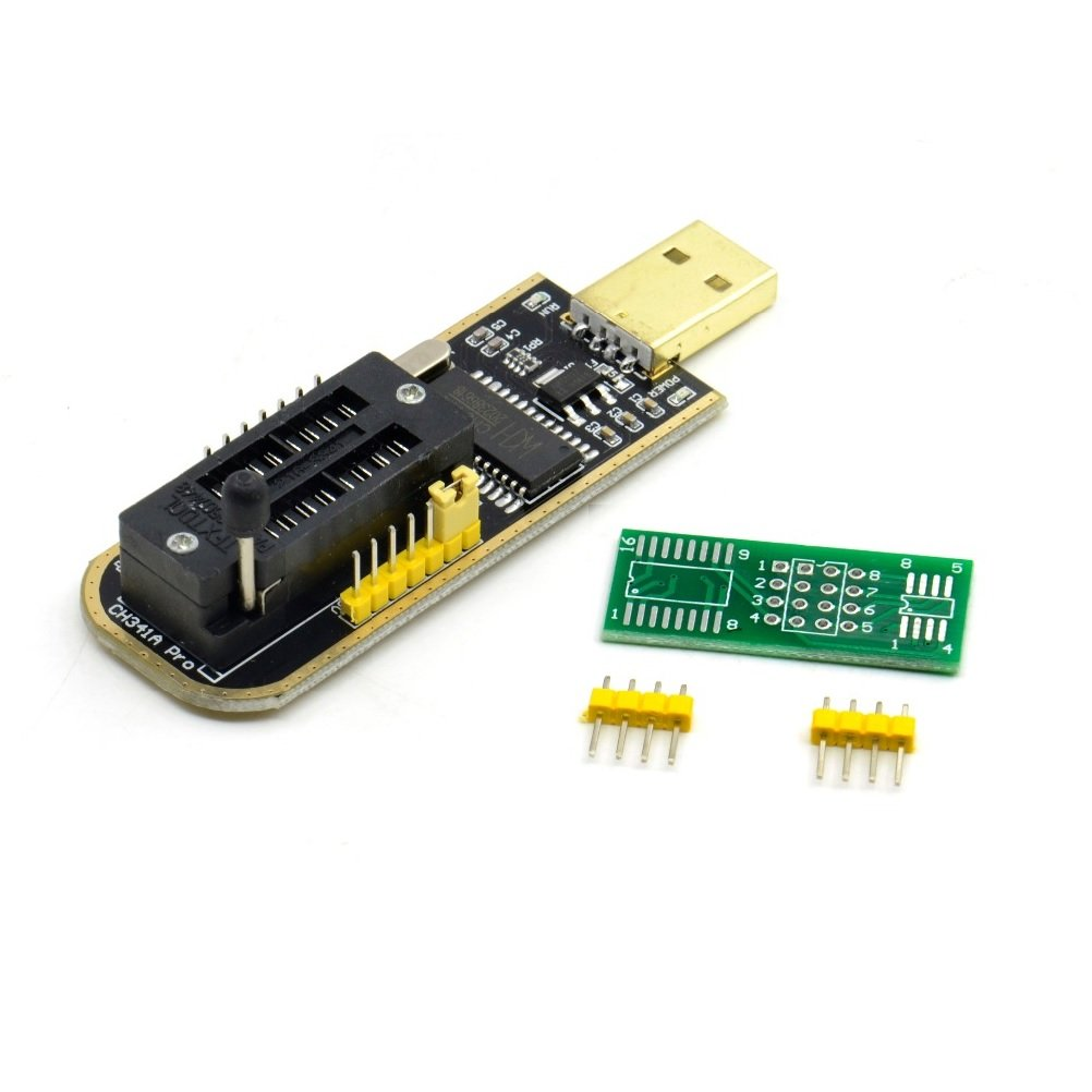 CH341A 24 25 Series EEPROM Flash BIOS USB Programmer with Software & Driver  - Robu in | Indian Online Store | RC Hobby | Robotics