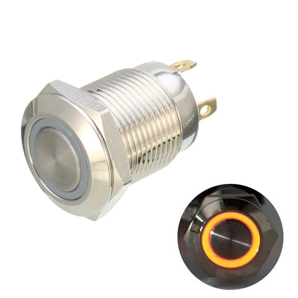 12mm 12V Ring Light Self-Lock Non-Momentary Metal Switch