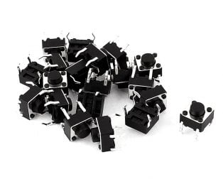 12x12x7.3mm Tactile Push Button Switch-10Pcs.
