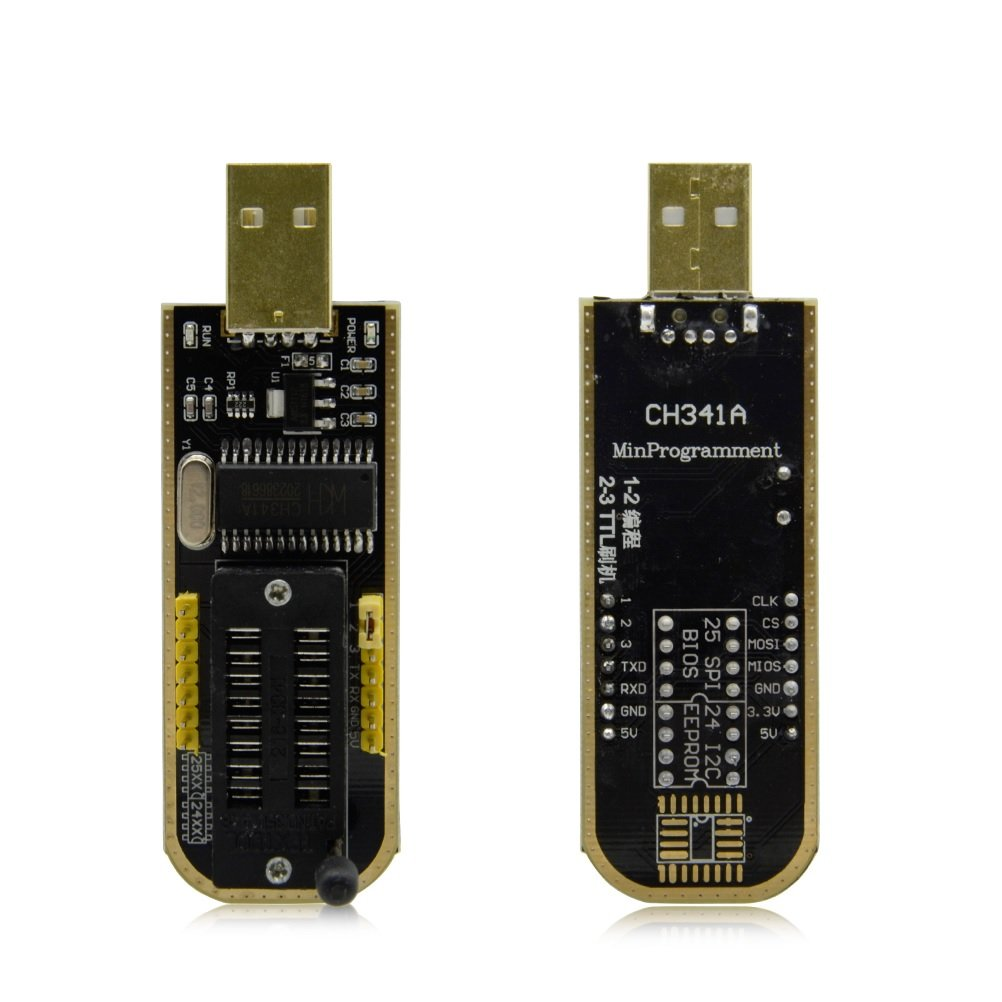 CH341A 24 25 Series EEPROM Flash BIOS USB Programmer with Software & Driver  - Robu in   Indian Online Store   RC Hobby   Robotics