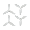Orange HD 4052(4X5.2) Tri-Blade Flash Propellers 2CW+2CCW 2 Pair-Transparent