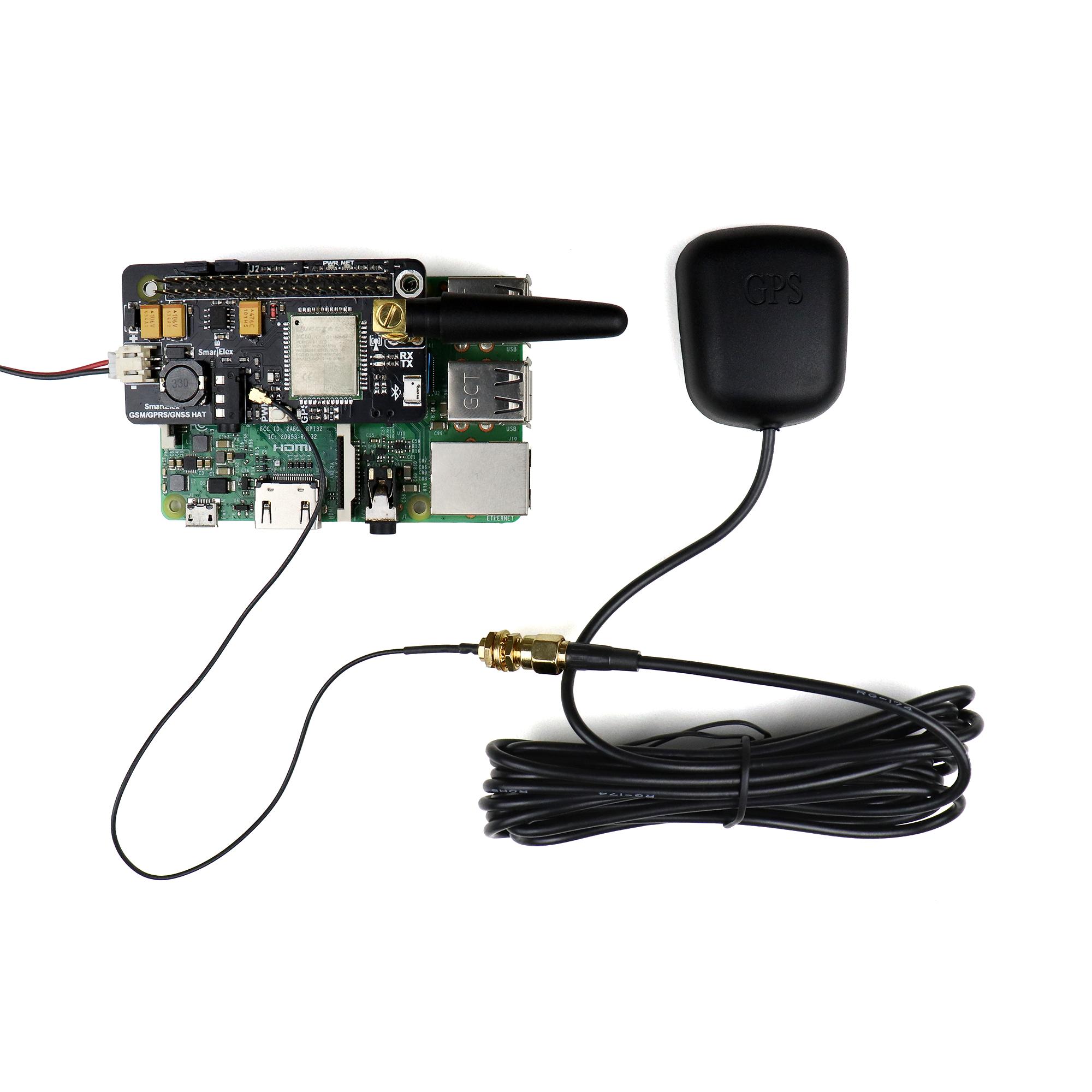 SmartElex GSM/GPRS/GNSS Bluetooth HAT for Raspberry Pi