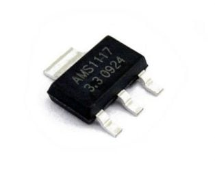 AMS1117-3.3V, 1A, SOT-223 Voltage Regulator IC (Pack of 5 ICs)