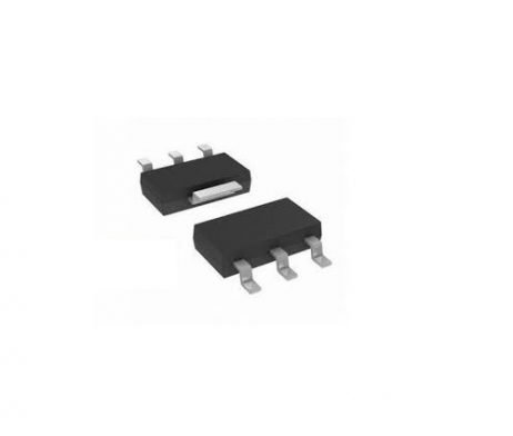 AMS1117-ADJ 1A, SOT-223 Voltage Regulator IC (Pack of 5 ICs)