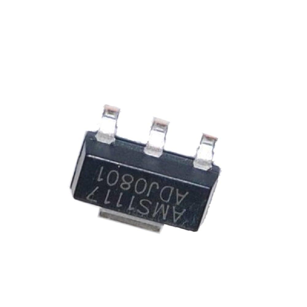 AMS1117-ADJ 1A, SOT-223 Voltage Regulator IC (Pack of 5 ICs)