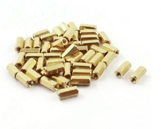 10mm Female-Female Brass Hex Threaded Pillar Standoff Spacer