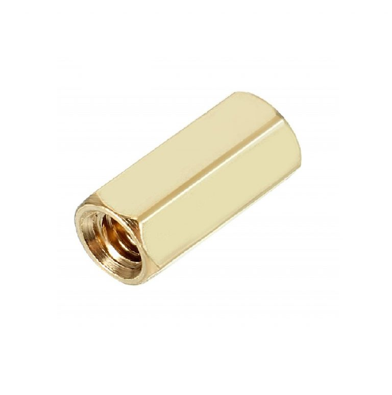 M3 X 10mm Female-Female Brass Hex Threaded Pillar Standoff Spacer-6 Pcs.