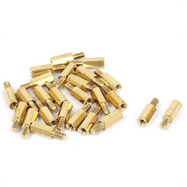 M3 X 10mm Male-Female Brass Hex Threaded Pillar Standoff Spacer- 6 Pcs.