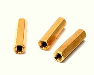 20mm Female to Female Brass Hex Threaded Pillar Standoff Spacer