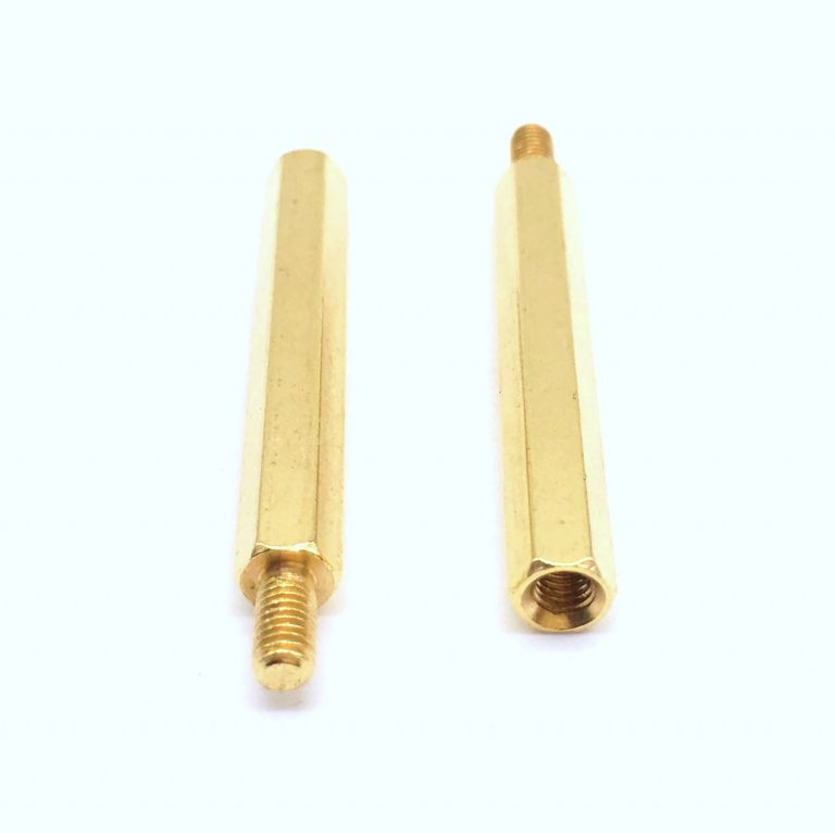 M3 X 35mm Male to Female Brass Hex Threaded Pillar Standoff Spacer- 6 Pcs.