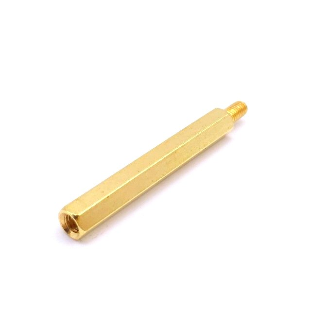 M3 X 40mm Male to female Brass Hex Threaded Pillar Standoff Spacer- 6 Pcs.