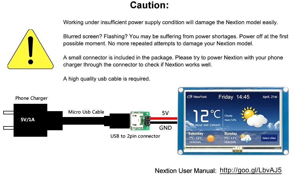 Nextion NX3224T028 - Generic 2.8HMI LCD Touch Display