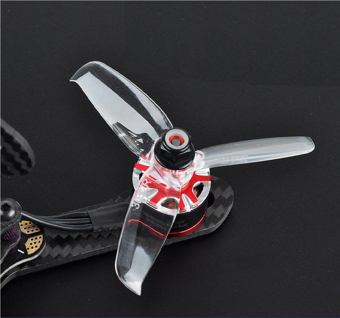 Orange 3052(30X5.2) Tri Blade Flash Propellers 2CW+2CCW 2 Pair-Transparent