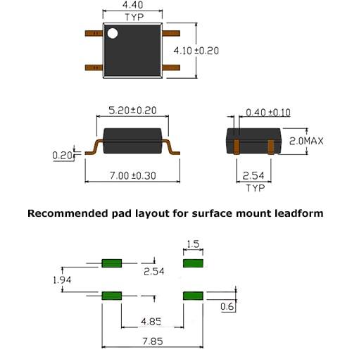 PC817 DIP-4 SMD Transistor Output Optocoupler