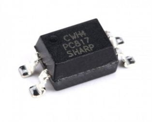 PC817 SMD Transistor Output Optocoupler (Pack of 5 ICs)