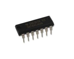 SN74HC164N PDIP-14 Counter Shift Register IC (Pack of 3 ICs)