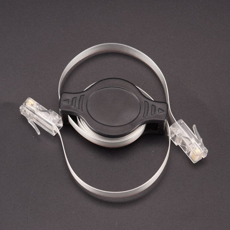 1.5 meter RJ45 Retractable Travel Network Cable