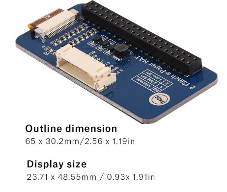 2.13inch E-Ink Paper display HAT for Raspberry Pi, Three-Color