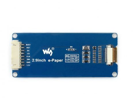 2.9 inch e-Ink Paper Display Module with SPI Interface