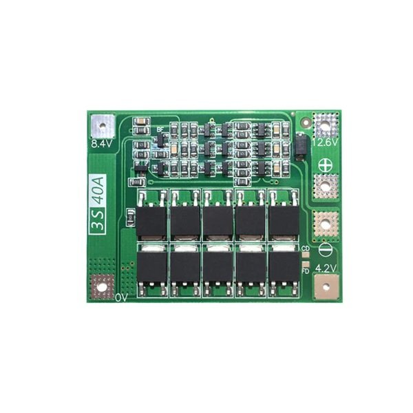 3 Series 40A 18650 Lithium Battery Protection Board