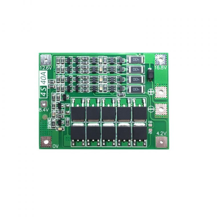 4 Series 40A 18650 Lithium Battery Protection Board