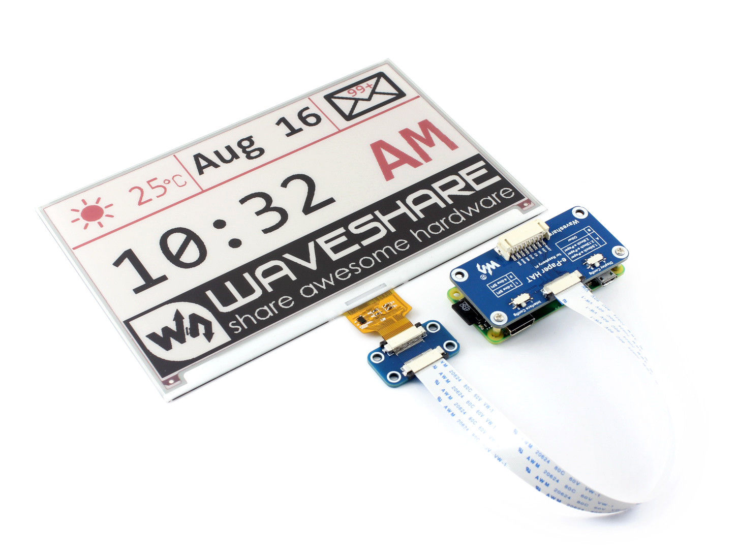 7 5-inch E-Ink Paper display HAT for Raspberry Pi - Robu in | Indian Online  Store | RC Hobby | Robotics