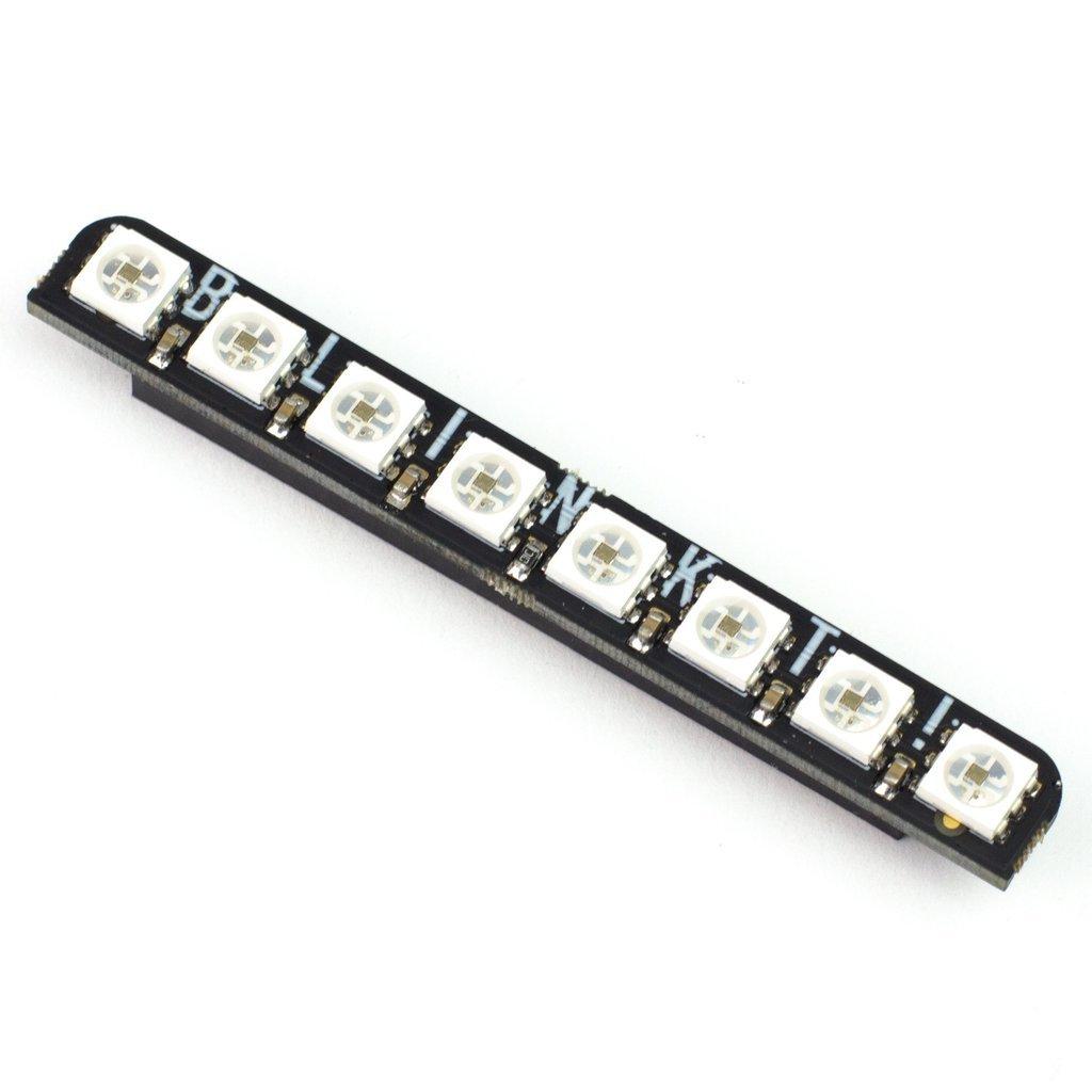 Blinkt! 8 RGB LED Shield for Raspberry Pi.