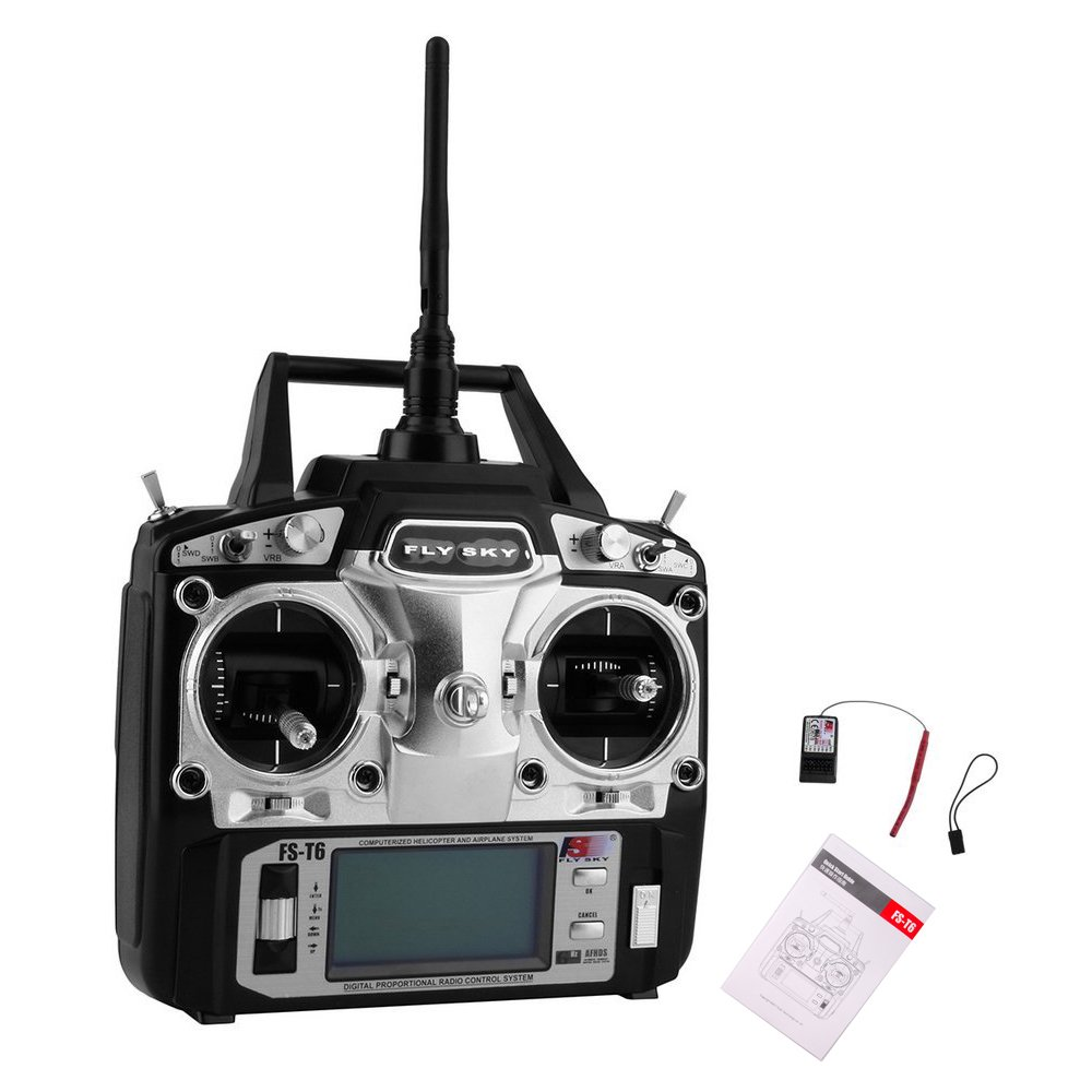 FlySky FS-T6 6CH Transmitter with FS-R6B Receiver - Robu in | Indian Online  Store | RC Hobby | Robotics