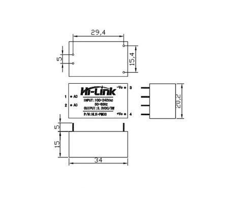HLK-PM12 12V/3W Switch Power Supply Module