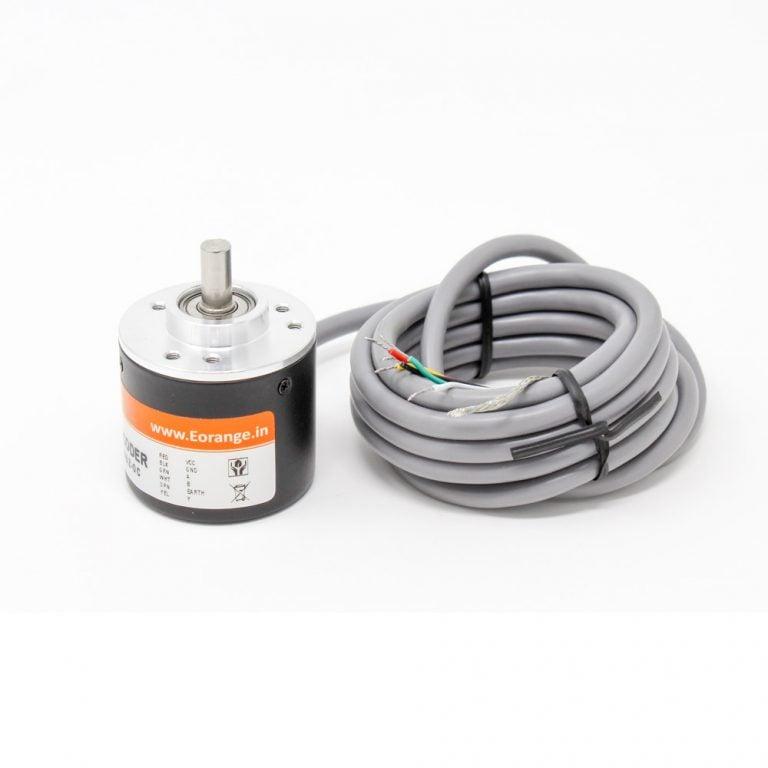 Orange Rotary Incremental Optical Encoders -ROBU.IN